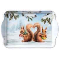 Tablett - Eichhörnchen Liebe