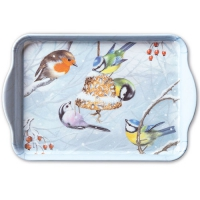 Tablett - 13X21cm Winter Birds