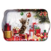 Tablett Kitten And Bauble