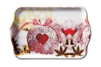 Tablett - Herz auf Apfel
