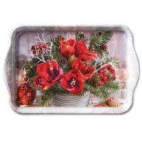 Tablett - Amaryllis Blumenstrauß