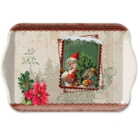 Tablett - 13X21cm Santa Stamp