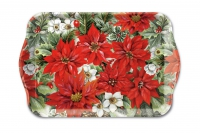 Tablett - 13X21cm Poinsettia All Over