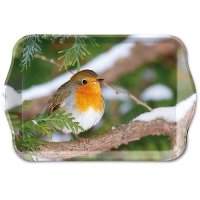 Tablett - Robin In Tree