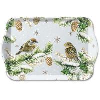 Tablett - Sparrows In Snow