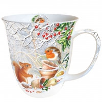 Porzellan-Henkelbecher Mug 0.4 L Winter Picture