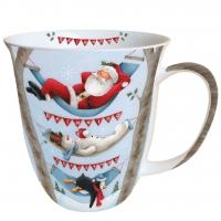 Porzellan-Tasse - Entspannende Weihnachten