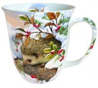 Porzellan-Henkelbecher Hedgehog In Snow