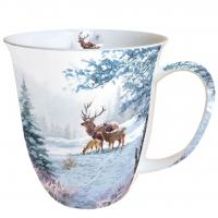Porzellan-Henkelbecher Deer Family
