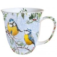 Porzellan-Tasse - Zwitschernde Vögel