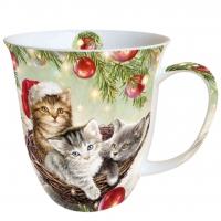 Porzellan-Tasse Cats In Basket