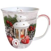 Porzellan-Tasse -  0.4 L White Lantern