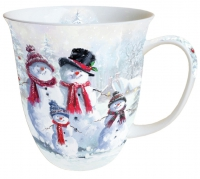 Porzellan-Tasse -  0.4 L Snowman With Hat