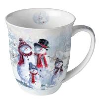 Porzellan-Tasse - Snowman With Hat