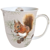 Porzellan-Tasse -  0.4 L Squirrel In Winter