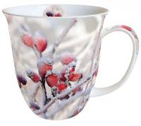 Porzellan-Tasse - Frozen Rosehips