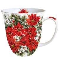 Porzellan-Tasse - Poinsettia All Over