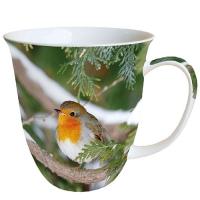 Porzellan-Tasse - Robin In Tree