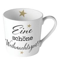 Porzellan-Tasse - Weihnachtszeit