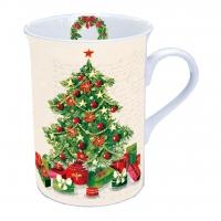 Porzellan-Tasse - Weihnachtsbaum