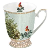 Porzellan-Tasse - Kleine Robins