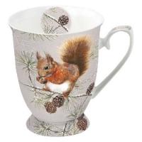 Porzellan-Tasse -  0.25 L Squirrel In Winter