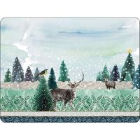 Tischsets - Deer Winterscene