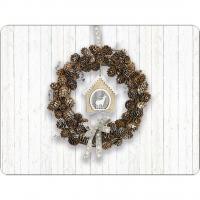 Tischsets - Pine Cone Wreath