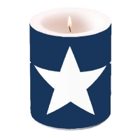 Dekorkerze CANDLE STAR DARK BLUE