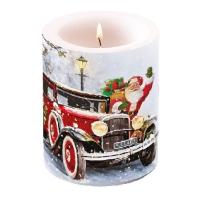 Dekorkerze - Santa Automobile