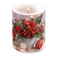 Dekorkerze - Amaryllis Blumenstrauß