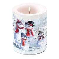 Dekorkerze - Snowman With Hat