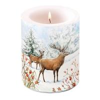 Dekorkerze - Deer In Snow