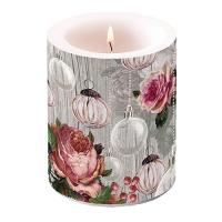 Dekorkerze - Roses And Baubles