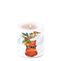 Dekorkerze klein - Weihnachtsstiefel