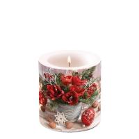 Dekorkerze klein -  Amaryllis Bouquet