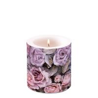Dekorkerze klein - Winter Roses