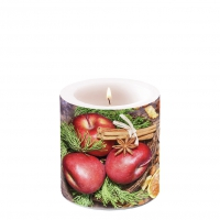 Dekorkerze klein - Winter Apples