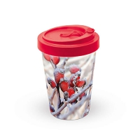 Bamboo mug To-Go - Frozen Rosehips
