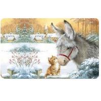 Breakfast Tray - Donkey And Kitten