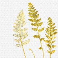 Servietten 33x33 cm - Jardin Déco, weiß-gold