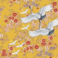 Servietten 33x33 cm - Kimono, safran