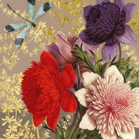 Servietten 33x33 cm - Madame Bovary, taupe