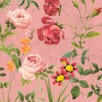 Servietten 33x33 cm - Mademoiselle, rose