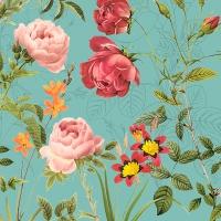 Servietten 33x33 cm - Mademoiselle, turquoise