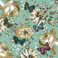Servietten 33x33 cm - Colette, turquoise