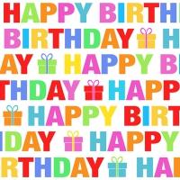Servietten 25x25 cm - Colour Birthday