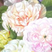 Servietten 25x25 cm - Barock Flower
