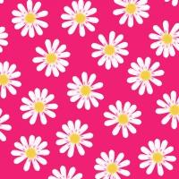 Servietten 25x25 cm - Dancing Daisies pink