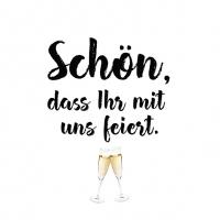 Servietten 25x25 cm - Schön Feiern